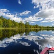 Stock Photo: Kayaking in Karelia