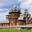 Wooden church at Kizhi under reconstruction — Stock Photo #36112927