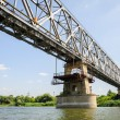 Stock Photo: Old railroad bridge across the Dniester near Ribnita, Moldova