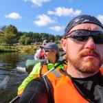 Kayaking in the Karelia — Stock Photo