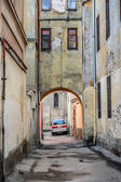 Gateway in old Lviv — Stock Photo