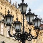 Old streetlight in Lviv, Ukraine — Stock Photo