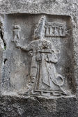 God Sharruma and King Tudhaliya, rock carving in Yazikaya — Stock Photo