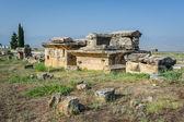 Ruiny města hierapolis, pamukkale nyní — Stock fotografie