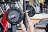 Barbell bench press — Stock Photo