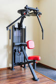 Peck back gym workout machine — Stock Photo