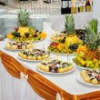 Stock Photo: Rich banquet dessert table