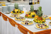 Rich banquet dessert table — Stock Photo