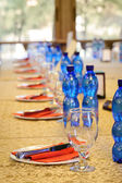 Official banquet table — Stock Photo