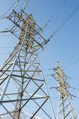 High voltage power lines — Stok fotoğraf