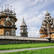 Wooden church at Kizhi under reconstruction — Stock Photo #46938383