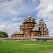 Wooden church at Kizhi under reconstruction — Stock Photo #46938451