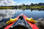 Kayaking in the Karelia — Stock Photo