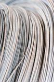 Hank av metalltråd bakgrund — Stockfoto