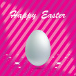 Easter Egg in pink background — Stock Vector