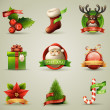 Christmas Icons/Objects Collection. — Stock Vector