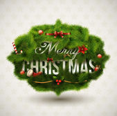 """merry christmas"", etichetta creativa. — Vettoriale Stock"