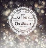 Retro Badge over Christmas background — Stock Vector