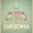 Typography Christmas Greeting Card. Have a Very Merry Christmas. — Stock Vector