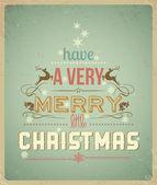 Typografie-weihnachts-grußkarte. ein frohes weihnachtsfest. — Stockvektor