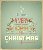 Typography Christmas Greeting Card. Have a Very Merry Christmas. — Stok Vektör