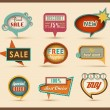 The new retro speech bubbles/signs collection — Vettoriali Stock
