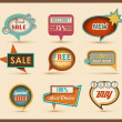 The new retro speech bubbles/signs collection — Stock Vector