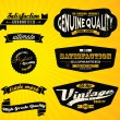 Black Retro Labels CollectionBlack Retro Labels Collection - Stock Vector