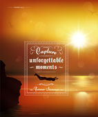 Capture unforgettable moments — Stock Vector