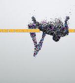 прыжок в высоту — Cтоковый вектор