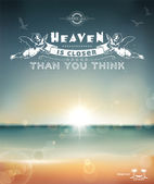 Heaven is closer than you think — Vector de stock
