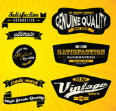 Black Retro Labels CollectionBlack Retro Labels Collection — Stock Vector