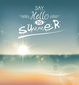 Say Hello to Summer — Stok Vektör