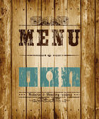 Decorative Menu card. — Vector de stock