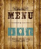 Placa decorativa menu. — Vetorial Stock