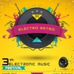 Music Concept, Retro Poster Template. — Stock Vector