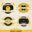 Vintage Music Labels and Badges. — Vector de stock