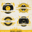 Vintage Music Labels and Badges. — Stock Vector #15546693