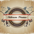 Vector de stock : Vintage Music Sign/Badge.