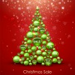 Christmas Sale Tree — Stock Vector