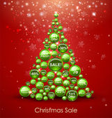 Christmas Sale Tree — Stock Vector