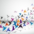 Royalty-Free Stock Vector Image: Paper Flight. Origami Birds.