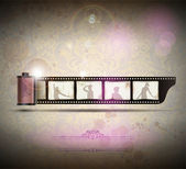 Elegant Vintage empty Photo frame Background. Vector Illustration — Stok Vektör