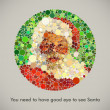 You need to have good eye to see Santa - Stock Vector