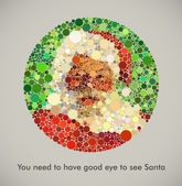 You need to have good eye to see Santa — Stock Vector