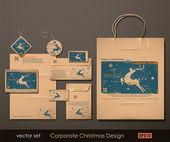 Corporate weihnachts-design — Stockvektor