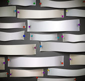 Coupes de papier vide avec des épingles — Vecteur
