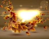 Brillante fondo otoño sensual con luces. — Vector de stock