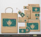 корпоративные рождественские дизайн — Cтоковый вектор