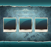 Elegant Vintage empty Photo frame Background — Stockvektor